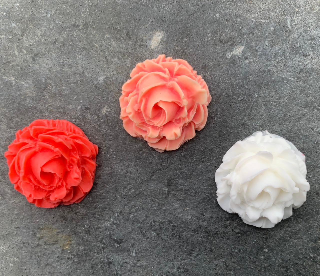 Natural Handmade Soap, Organic Rose Shaped Shower Melts-soap-gifts for her-wedding favors-floral-scented shower melts-rustic-sensitive skincare-spa items-self care product
