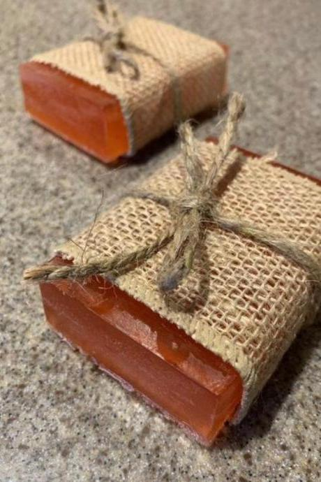 Natural Handmade Soap, Pumpkin Spice Gel Soap Bars-organic soap-vegan soap-fall scents-autumn-gifts for her-wedding favors-scented soap-sensitive skin care-rustic