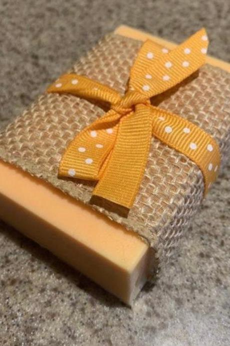 Natural Handmade Organic Soap, Peach Mango Organic Vegan Soap Bars,wedding favors-gifts for her-skincare-essential oils-soap design-artisan soap-rustic-sensitive skin
