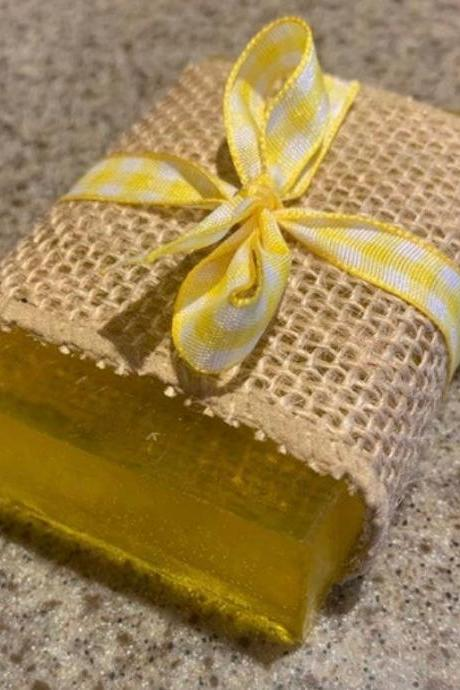 Natural Handmade Soap, Organic Lemoncello Organic Gel Vegan Soap-vegan-eco friendly-soap bars-spa items-girls day-skin care products- sensitive skin care-yellow soap-lemon soap